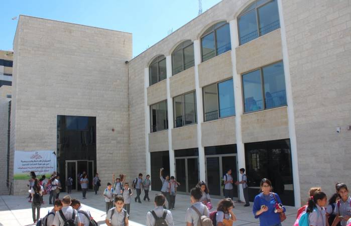 The Middle School building opens its doors
