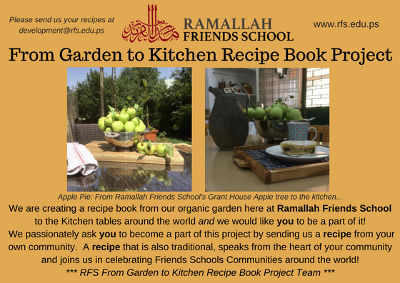 From RFS Garden to Kitchen Recipe Book Project