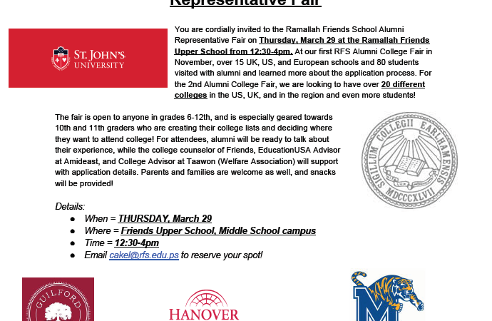 RFS Alumni College Representative Fair