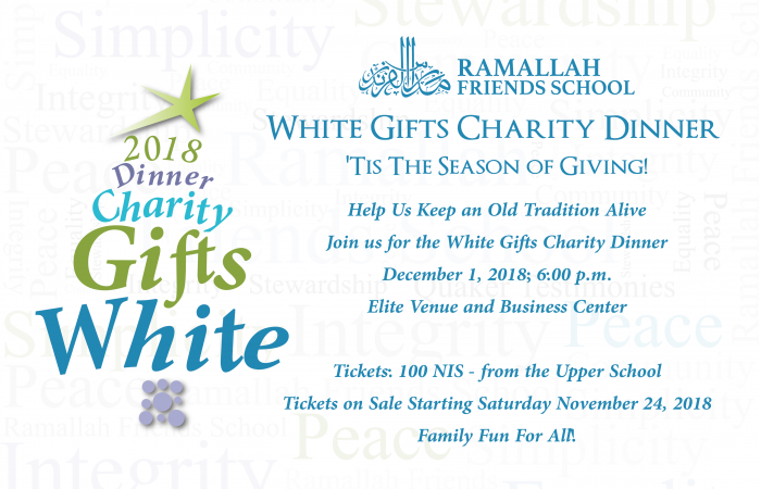 White Gifts Charity Dinner 2018 - Buy your tickets now!