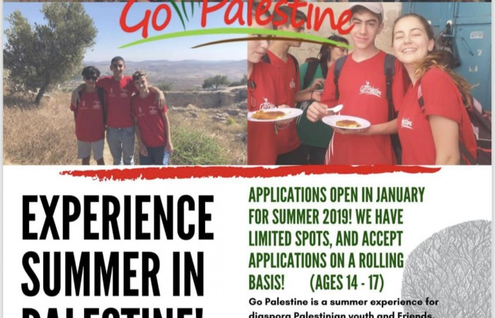 Sign up for Go Palestine 2019 now!
