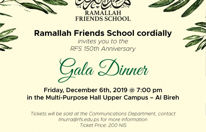Buy tickets now for RFS Gala Dinner!