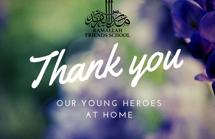 Head of School Thanks our Young Heroes at Home